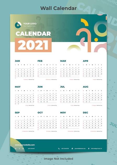 Шаблон творческого бизнес-календаря Premium Psd