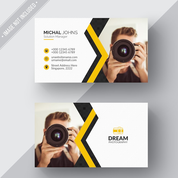 Creative Business Card Design PSD File