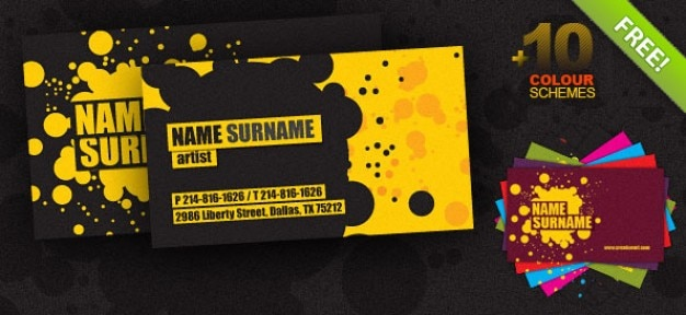 creative business card psd template Free Psd
