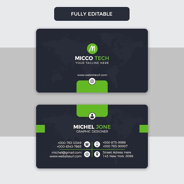 Creative business card template Premium Psd