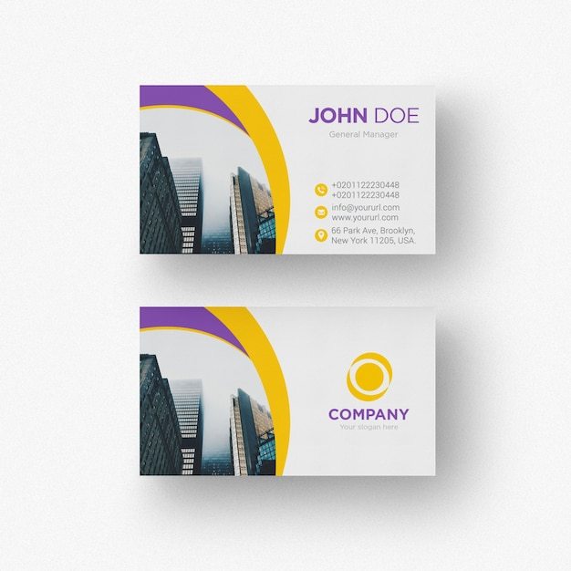Creative business card psd file free download creative business card free psd reheart Gallery