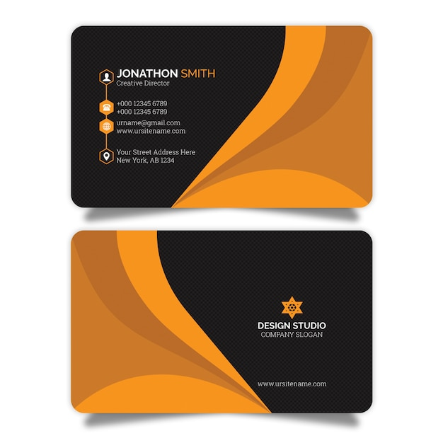 Creative business card Premium Psd