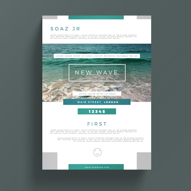 Creative Business Flyer Template PSD File