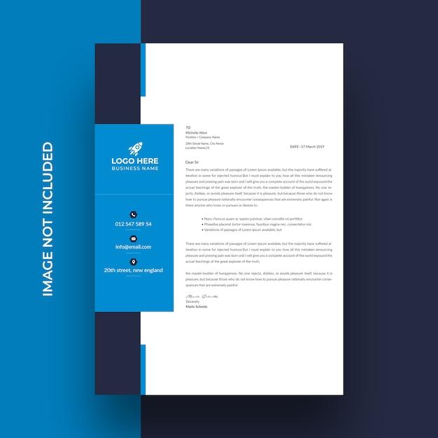 크리 에이 티브 비즈니스 레터 헤드 템플릿 디자인 프리미엄 PSD 파일