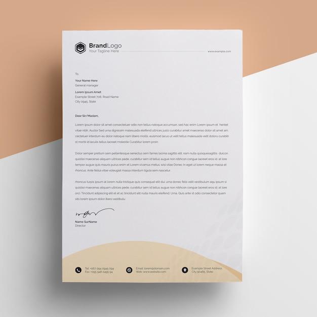 Creative business letterhead template Premium Psd
