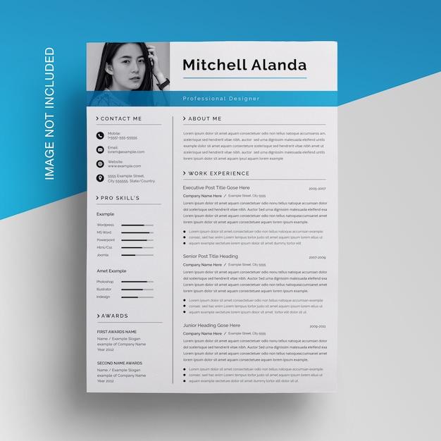 クリエイティブビジネス履歴書デザインテンプレート Premium Psd