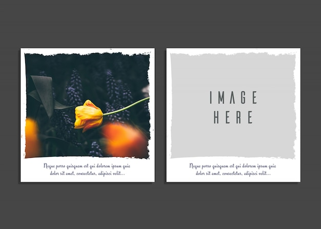 Creative card template with image Premium Psd