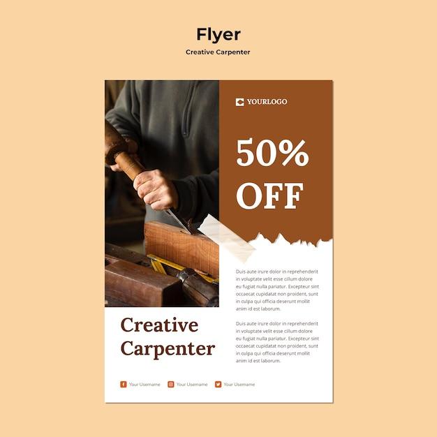 Modello di storie sui social media di falegname creativo Psd Gratuite