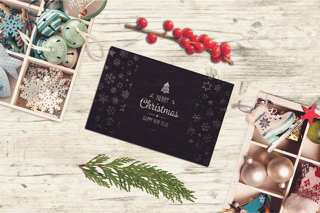 Творческий макет рождественской открытки Premium Psd