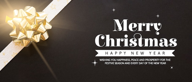 Creative christmas party banner template Free Psd