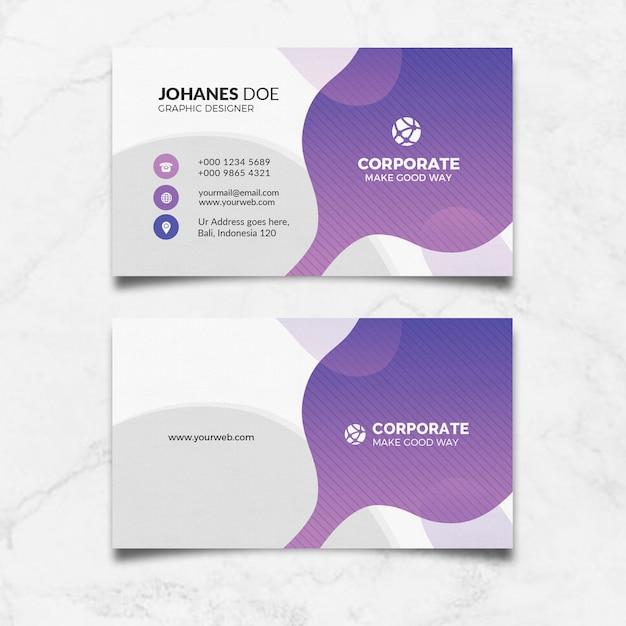Creative clean business card Premium Psd