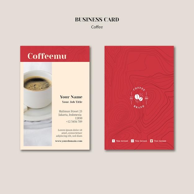Creative coffee shop business card Free Psd