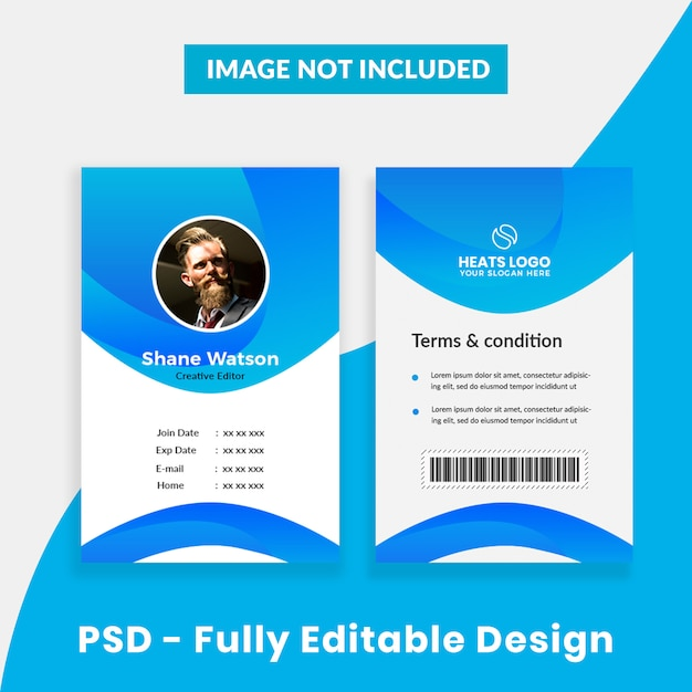 Creative Company Id Card Template PSD File
