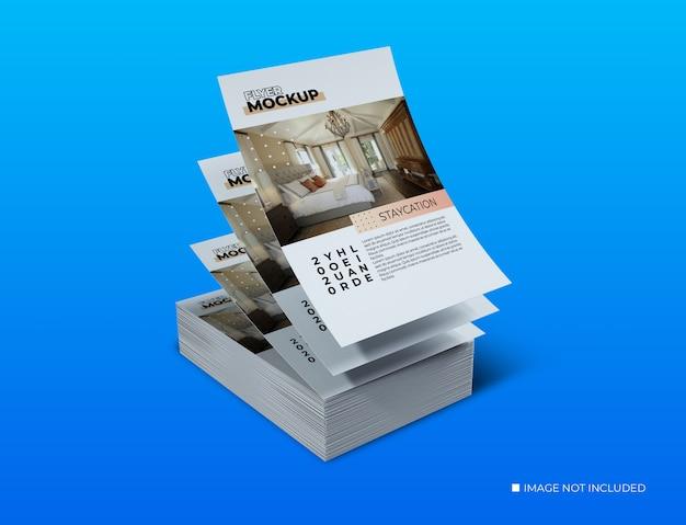 Creative concept decks of flyer mockup Premium Psd