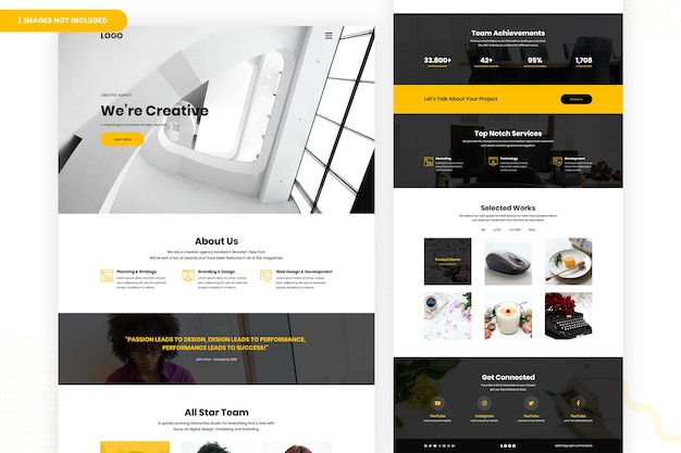 Creative designer website page design Premium Psd