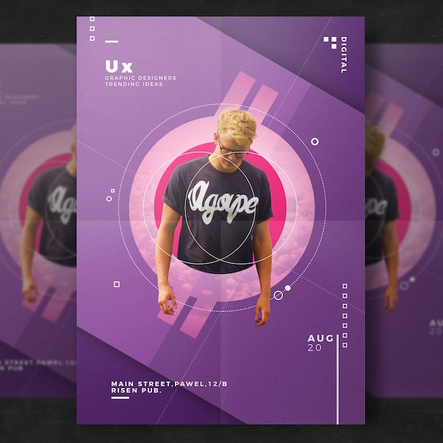 Free Psd Templates: Creative Event Flyer Template PSD File