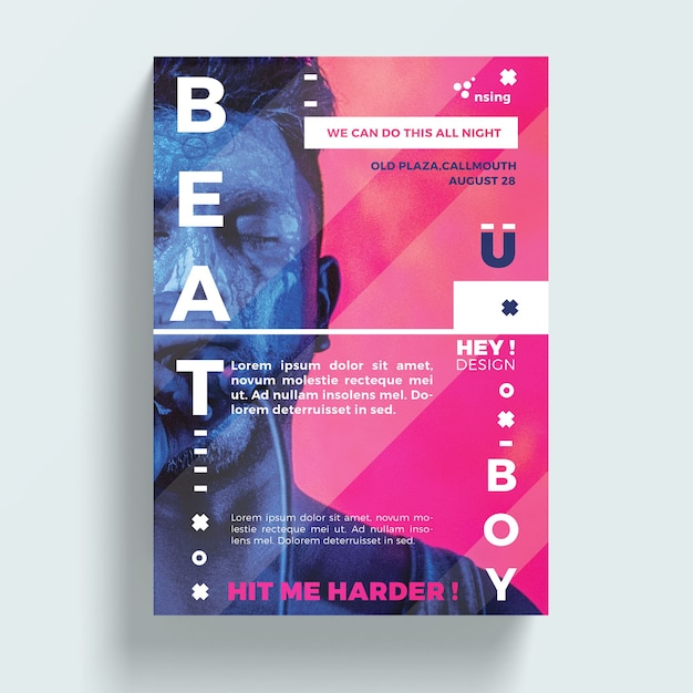 Creative flyer template PSD file | Free Download