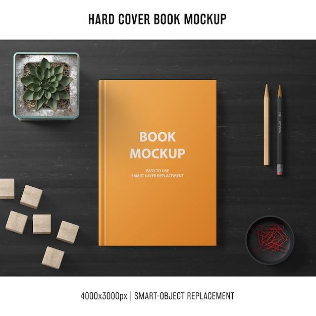 Creative hard cover book mockup Free Psd