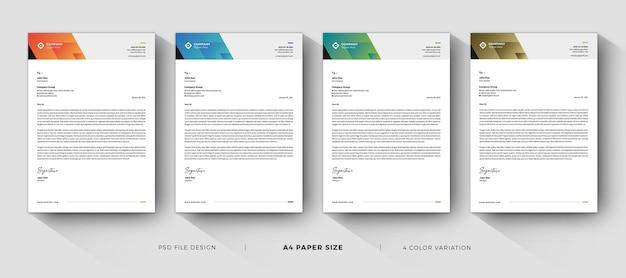 Creative letterhead professional templates design Premium Psd