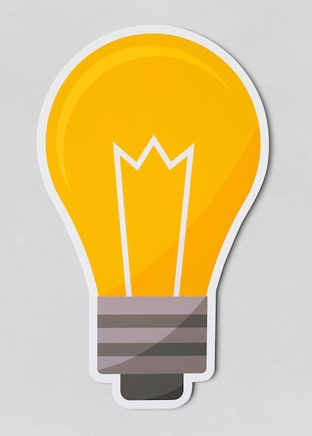 Значок creative light bulb Бесплатные Psd