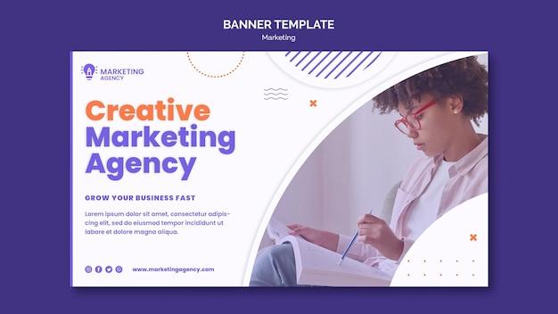 Шаблон креативного маркетингового баннера Бесплатные Psd