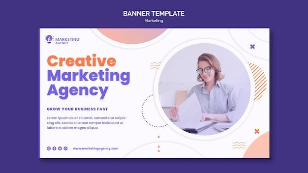 Modello di banner di marketing creativo Psd Gratuite
