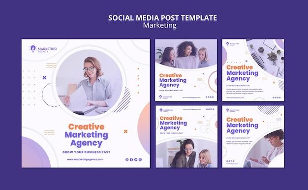 Creative marketing social media post Premium Psd