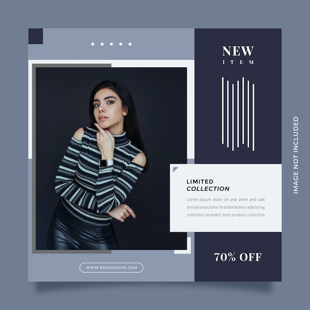 Creative and modern design social media post and web banner template for digital marketing Premium Psd