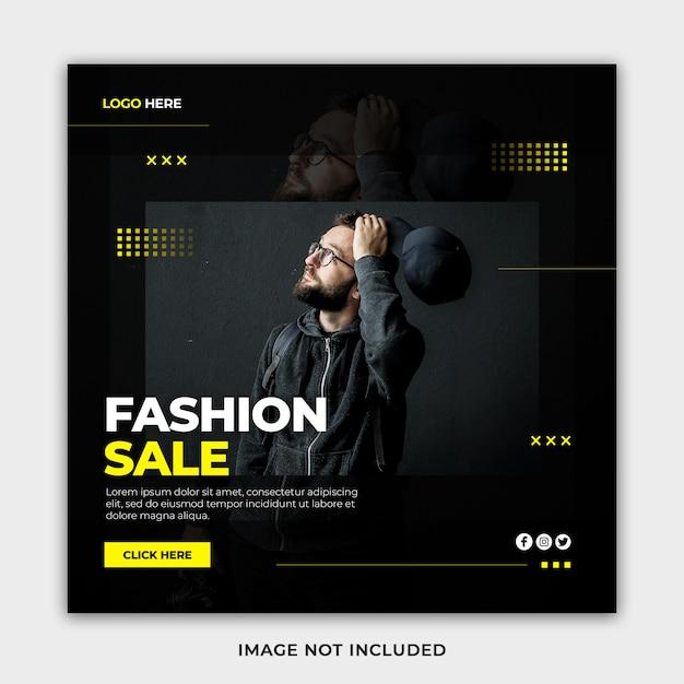 Creative modern minimalist fashion sale banner template Premium Psd