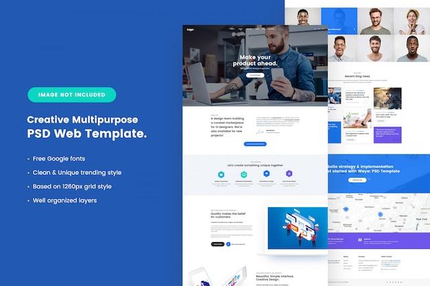 Creative multipurpose web template Premium Psd