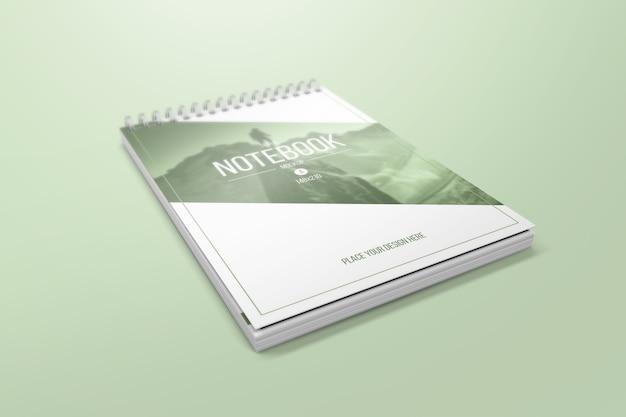Creative notebook mockup Premium Psd