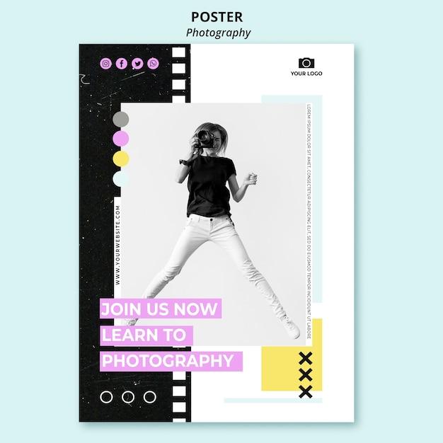 사진이있는 창조적 인 사진 포스터 무료 PSD 파일