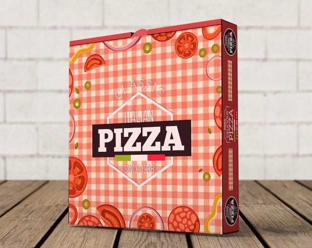 Creative pizza box mockup Free Psd