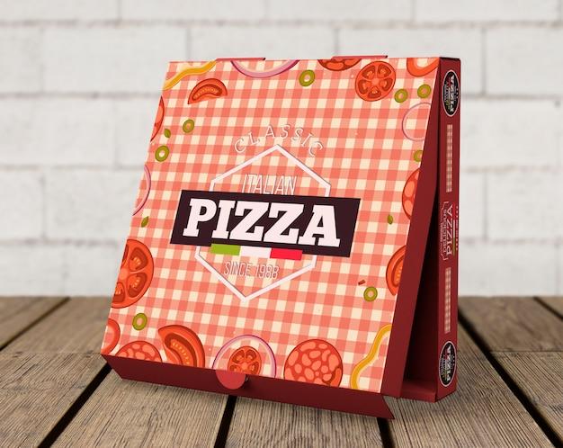 창의적인 피자 상자 모형 무료 PSD 파일