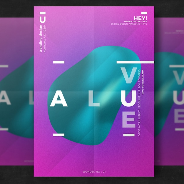creative poster template psd file free download