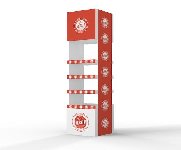 창조적 인 빨간 전시자 모형 무료 PSD 파일