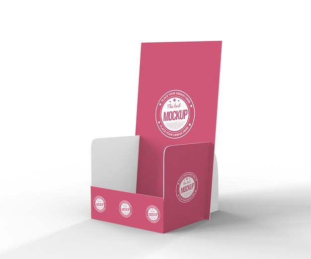 Creative red exhibitor mock-up Free Psd