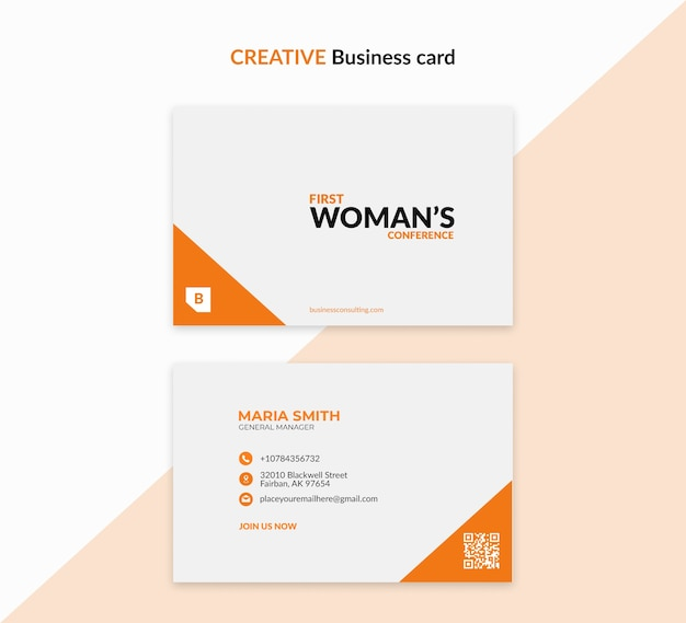 Creative template for business woman Free Psd