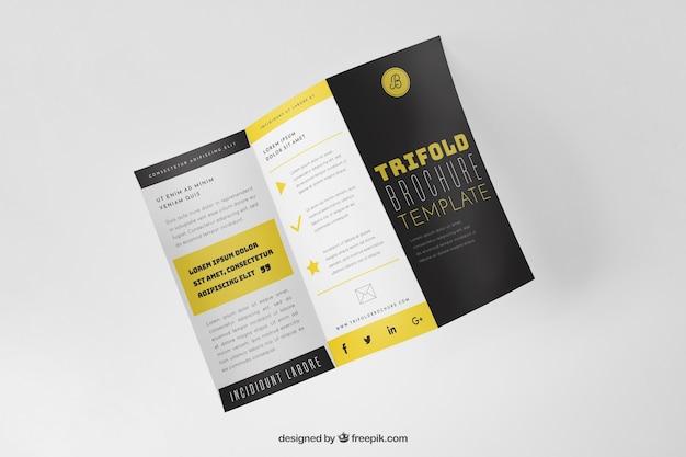 creative trifold brochure mockup free psd