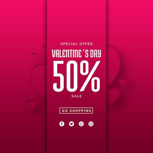 Creativo modello di vendita di valentines Psd Gratuite
