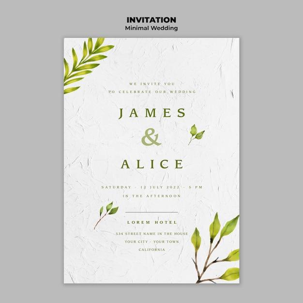 Creative wedding invitation template | Free PSD File
