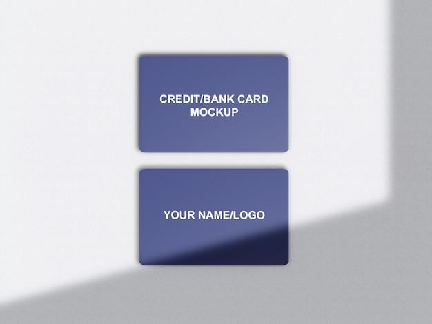 Credit/bank card mockup Premium Psd