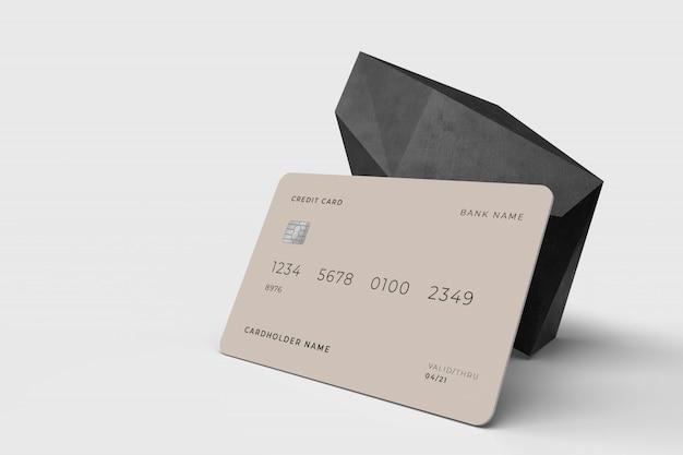 Credit card 3d design concept mockup template Premium Psd