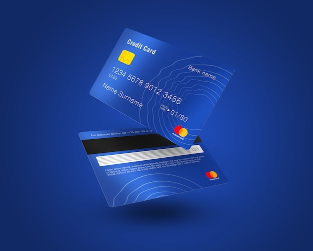 Credit card mock up Premium Psd