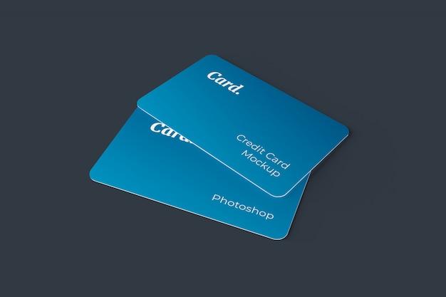 Credit card mockup Premium Psd