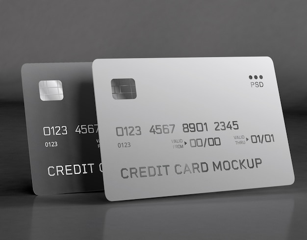 Carta di credito mockup Psd Gratuite