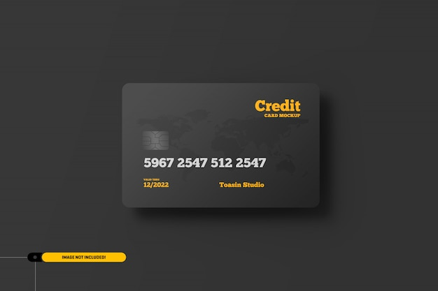 Credit cards. gift cards mockup Premium Psd