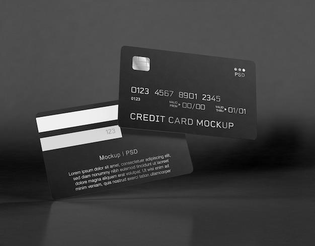 Carte di credito mockup Psd Gratuite