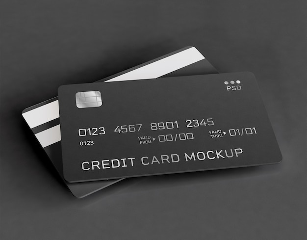 Мокап кредитных карт Бесплатные Psd