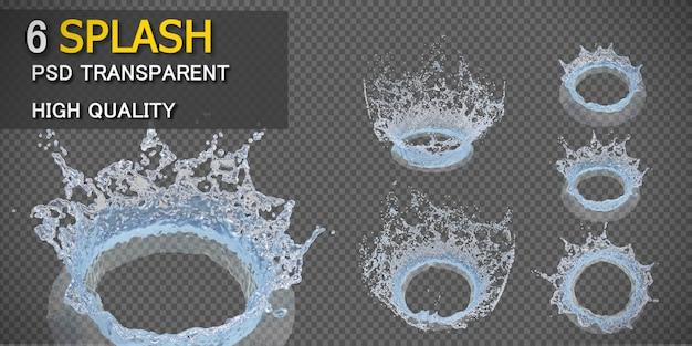 Crown water splash transparent isolated Premium Psd